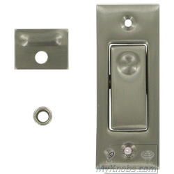 deltana solid brass pocket door jamb bolt in satin nickel