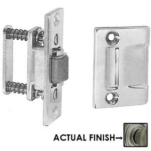 Baldwin Hardware - Roller Latch with Full Lip Strike in Antique Nickel