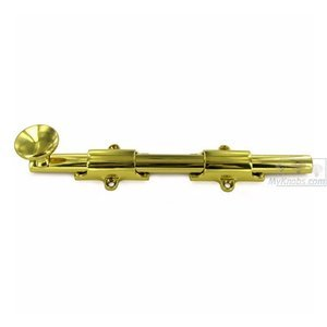 "Deltana - Solid Brass 8"" Heavy Duty Surface Bolt in Polished Brass"