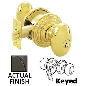 Emtek Hardware   Keyed Knobs And Levers   Keyed Egg Knob With Regular  Rosette