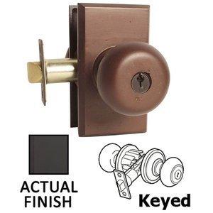 Emtek Hardware   Keyed Knobs And Levers   Keyed Winchester Knob With #3  Rosette