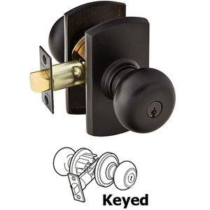 Emtek Hardware   Keyed Knobs And Levers   Keyed Winchester Knob With #4  Rosette