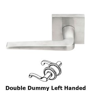 Emtek Hardware - Stainless Steel - Athena Left Hand Dummy Set Door Lever With Stainless Steel Square Rosette
