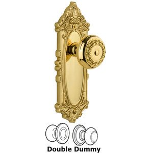 Grandeur Grande Victorian Plate Double Dummy with Parthenon Knob in Lifetime Brass
