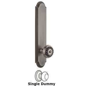 Grandeur Door Hardware - Arc - Tall Plate Dummy with Parthenon Knob in Antique Pewter