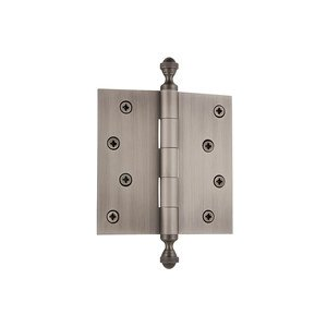 "Grandeur Hardware - 4"" Acorn Tip Residential Hinge with Square Corners"
