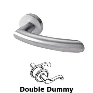 Linnea Hardware - Double Dummy Door Lever in Satin Stainless Steel