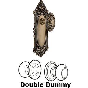Nostalgic Warehouse   Double Dummy Knob   Victorian Plate With Victorian  Door Knob In Antique Brass