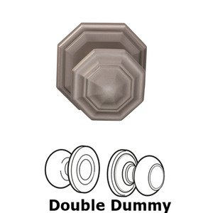 Door Knobs by Omnia - Double Dummy Traditions Octagon Knob with Octagon Rosette in Satin Nickel