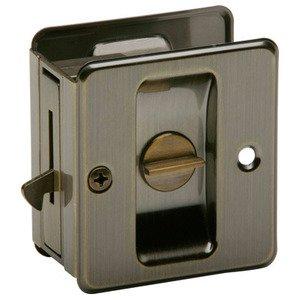 Ives By Schlage   Aluminum Privacy Pocket Door Lock In Antique Brass