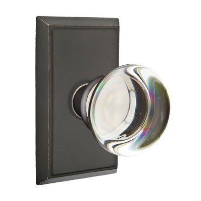 Emtek Hardware   Crystal Door Hardware   Providence Privacy Door Knob With  Rectangular Rose