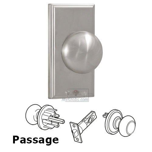 Weslock Door Hardware   Elegance Passage Knob   Woodward Plate With Impresa Door  Knob In Satin ...