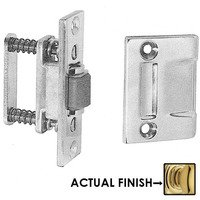 Baldwin Hardware - NonLacquered Brass - Roller Latch with Full Lip Strike in Unlacquered Brass