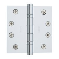 "Baldwin Hardware - Estate Door Accessories - 4"" x 4"" Ball Bearing Square Corner Door Hinge in Satin Nickel"