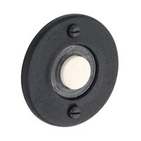 "Baldwin Hardware - Distressed Oil Rubbed Bronze - 1 3/4"" Round Bell Button in Distressed Oil Rubbed Bronze"