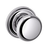 Baldwin Hardware - Classic - Passage Door Knob with Rose in Polished Chrome