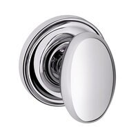 Baldwin Hardware - Egg - Passage Door Knob with Classic Rose in Polished Chrome