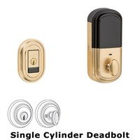Baldwin Hardware - Traditional - Evolved Single Cylinder Bluetooth Deadbolt in Lifetime Pvd Polished Brass