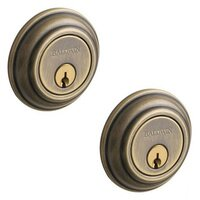 Baldwin Hardware - Traditional - Double Cylinder Deadbolt in Satin Brass & Black