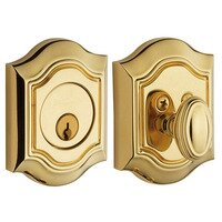 Baldwin Hardware - Bethpage - Single Cylinder Deadbolt in Lifetime PVD Polished Brass