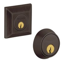 Baldwin Hardware - Square - Double Cylinder d Deadbolt in Venetian Bronze