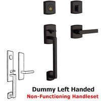 Baldwin Hardware - Soho - Sectional Left Handed Full Dummy Handleset with Lever in Distressed Oil Rubbed Bronze
