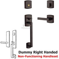 Baldwin Hardware - Soho - Sectional Right Handed Full Dummy Handleset with Lever in Distressed Venetian Bronze