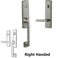 Baldwin Hardware - Soho - Escutcheon Right Handed Single Cylinder Handleset with Lever in Distressed Antique Nickel