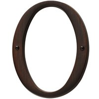 Baldwin Hardware - Venetian Bronze - #0 House Number in Venetian Bronze