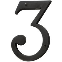 Baldwin Hardware - Oil Rubbed Bronze - #3 House Number in Oil Rubbed Bronze