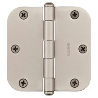 "Baldwin Hardware - Reserve Door Accessories - 3 1/2"" 5/8"" Radius Corner Door Hinge in Satin Nickel"