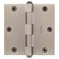 "Baldwin Hardware - Reserve Door Accessories - 3 1/2"" Square Corner Door Hinge in Matte Antique Nickel"