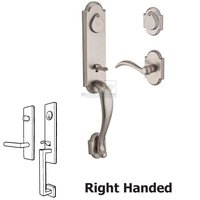 Baldwin Hardware - Reserve Kodiak - Right Handed Double Cylinder Handleset with Arch Lever in White Bronze