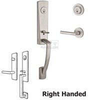 Baldwin Hardware - Reserve Miami - Right Handed Double Cylinder Handleset with Tube Lever in Satin Nickel