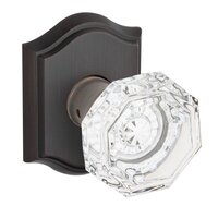 Baldwin Hardware - Reserve Crystal - Single Dummy Crystal Door Knob with Traditional Arch Rose in Venetian Bronze