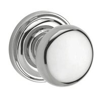 Baldwin Hardware - Reserve Round - Passage Door Knob with Traditional Rose in Polished Chrome