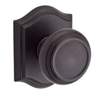 Baldwin Hardware - Reserve Traditional - Passage Door Knob with Arch Rose in Venetian Bronze