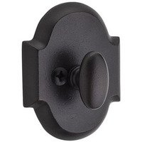 Baldwin Hardware - Reserve Rustic - Patio (One-Sided) Arch Deadbolt in Dark Bronze