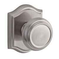 Baldwin Hardware - Reserve Traditional - Privacy Door Knob with Arch Rose in Satin Nickel