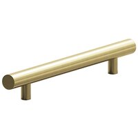 "Colonial Bronze - Antimicrobial Agion Pulls - 10"" Centers Surface Mount Door Pull in Satin Brass"