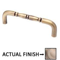 "Colonial Bronze - Antimicrobial Agion Pulls - 18"" Centers Traditional Surface Mount Pull in Satin Brass"