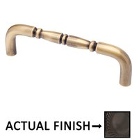 "Colonial Bronze - Antimicrobial Agion Pulls - 8"" Centers Traditional Surface Mount Pull in Satin Brass"