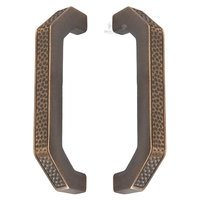 "Classic Brass - Oversized Pulls - 6 1/2"" Centers Rustic Back To Back Pull in Aged Iron"