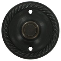 Deltana Hardware - Solid Brass Door Bells - Solid Brass Round Rope Bell Button in Oil Rubbed Bronze