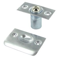Deltana Hardware - Door Catches - Solid Brass Ball Catch in Brushed Chrome