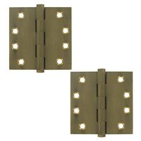 "Deltana Hardware - Solid Brass Door Hinges - Solid Brass 4"" x 4"" Standard Square Door Hinge (Sold as a Pair) in Oil Rubbed Bronze"
