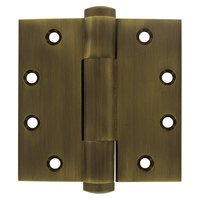 "Deltana Hardware - Solid Brass Heavy Duty Hinges - Royal Series - Solid Brass 4 1/2"" x 4 1/2"" Heavy Duty Door Hinge (Sold as a Pair) in Antique Brass"