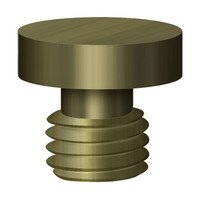 Deltana Hardware - Solid Brass Cabinet Hinge Finials - Button Tip in Oil Rubbed Bronze