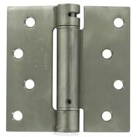 "Deltana Hardware - Spring Hinges - 4"" x 4"" Standard Square Spring Door Hinge (Sold Individually) in Brushed Stainless Steel"