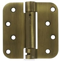 "Deltana Hardware - Spring Hinges - 4"" x 4"" 5/8"" Radius Spring Door Hinge (Sold Individually) in Oil Rubbed Bronze"